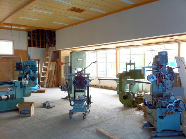 納品した木工機械